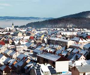 Delnice town in winter