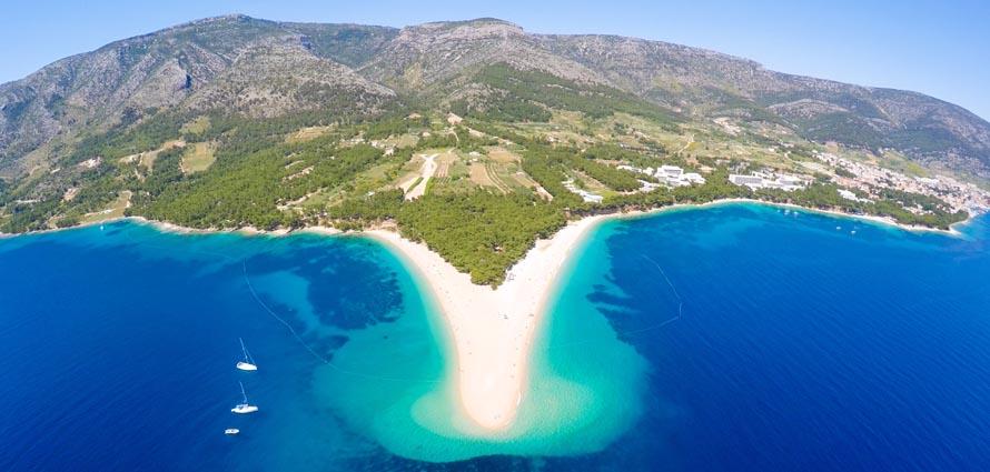 Golden Cape Beach Island Of Brac Croatia Bol