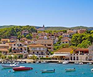 Jelsa town on the Hvar Island