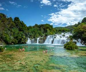 Swimming is allowed at Krka National Park