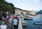 Viking guests in Perast, Montenegro