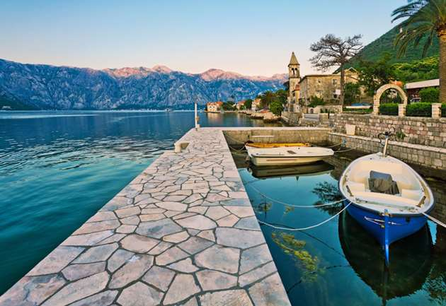 Small bay in Perast, Montenegro