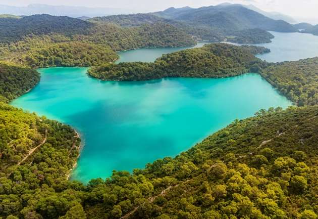 Lakes at Mljet island, National Park, Croatia