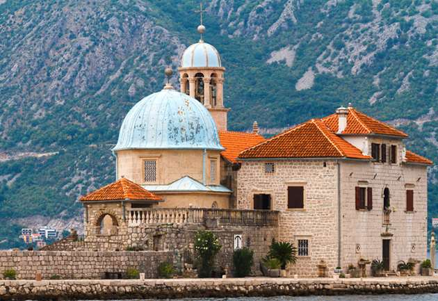 Islet Our Lady of The Rocks in Perast, Montenegro