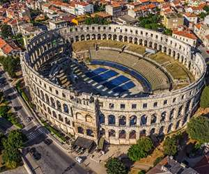 Amphitheater in Pula, Croatia
