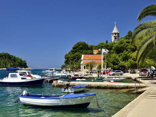 Seafront with Anchored Boats, Cavtat, Croatia