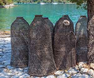 Traditional fishing traps, Mljet Island